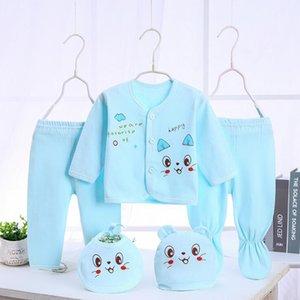 Bekamille Neonato Neonato Set da neonato (5pcs / Set) Abbigliamento morbido Cotton Moda Ragazzi Ragazze Abiti 201118