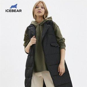 IceBear Winter Women's Down Chaleco Fashion Warm Female Parkas Marca Ropa de Mujer D4YY83024Y 201125