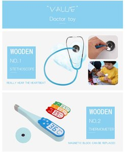 Children wooden, imitation cloth bag medicine box, boys and girls pretend to be doctors injection, toy gifts