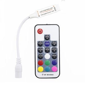 Mini Led RGB Remote Controller DC5-24V 17key RF Wireless Controller with 4pin female DC For 5050 12A RGB Led Strip Tape Lighting