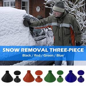 Hot Sale Car Ice Scraper Multi-function 3pcs set PP Plastic Magic Car Windshield Ice Scraper Snow Remover Outdoor Funnel zx6u#