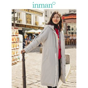 INMAN Winter Hooded Stand up Collar Warm Women Cotton Padded Jacket 201023