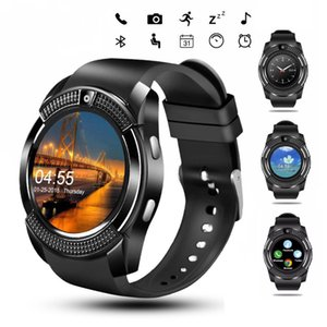 V8 Smart Watch Wristband Watch Band With 0.3M Camera SIM IPS HD Full Circle Display Smart Watch For Android System With Box reloj inteligent