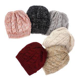 겨울 지저분한 롤빵 모자 어린 소녀의 모자 어린이 스트레치 니트 지저분한 아름다운 롤빵 크로 셰 뜨개질 따뜻한 모자