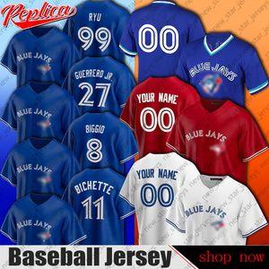 Azulejos de Toronto Baseball Jersey Vladimir Guerrero Jr. jerseys Hyun-Jin Ryu Carter Shaw Biggio Jersey Bo Bichette Roberto Alomar jerseys