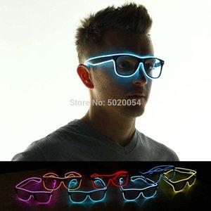 2021 Light Up EL Wire Led Flashing Glasses Halloween Rave Party Bar Eyeswear Accessory Sunglasses