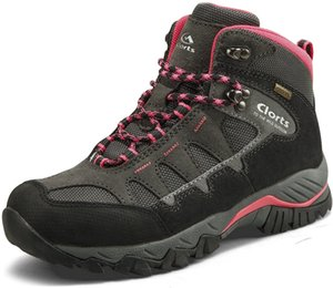Clorts Caminante para mujer Empresa impermeable Senderismo Ligero Camping Boot Outdoor High-Traction Grip Backpacking Shoe