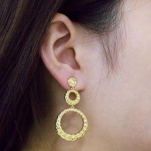 Boucles d'oreilles plaquées or féminines d'oreilles exagérées de femmes créatif 8 mot torsadeur formes bijoux Bijoux de gros prix