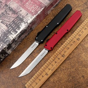 SLM tactical automatic knife D2 steel blade aviation aluminum handle outdoor camping self-defense hunting EDC tool kitchen fruit knife