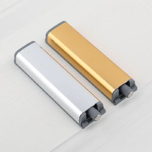 Aluminum alloy cabinet door plate open door free handle press spring door switch from spring