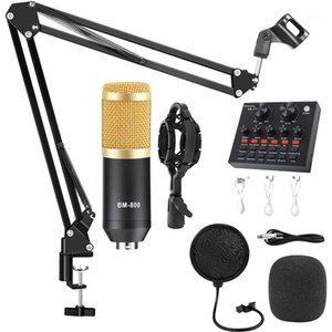 Professional BM800 Condenser Microphone Recording Kits For Computer Cell Phone Bm 800 Karaoke Microphone With Sound Card1