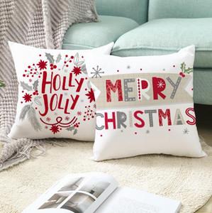 Nordic Style Weihnachtskissenbezug Cartoon Druckkissenbezug Weiche Auto Kissenbezüge Home Bett Sofa Dekoration Weihnachtsgeschenke HWC2887