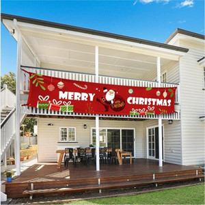 New Merry Christmas Banner Christmas Decorations for Home Outdoor Store Banner Flag Pulling New Year Deocr 300*50cm WY915w
