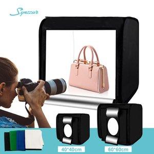 Home Photo Studio 40CM / 60 см Светодиодный Lightroom Dimming Складной Складной Софтбокс Слайд-палатка с 4 Цветами Фонов для фотографии продукта Q0112