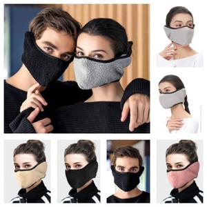 Unisex Sherpa Fleece Gesichtsmaske Frauen Männer Berber Plüschfell Masken SkiMask Radfahren Earmuffs Außen Warm Witer Masken Earmuffs Kopfbedeckung F102102