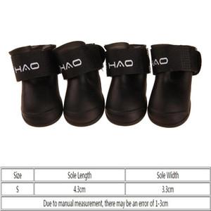 Pet Rain Boots Outdoor Non-slip Durable Pet Rain Shoes Small Dog Waterproof Protective Rain Boot 8 Colors EWD2640