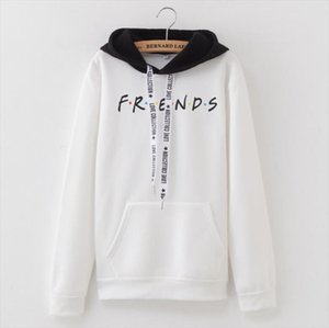 New Fashion womens Hoodies Autumn and winter friends letter patchwork hooded sweatshirt women Drop Shipping Good Quality