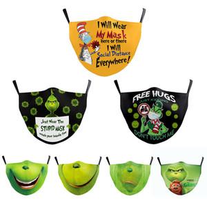Tasarımcı Noel Maskesi Pamuk Ayarlanabilir Kulak Halat Yetişkin Çocuk Bez Maske Nefes Yumuşak Özelleştirilebilir Desen Hızlı Kargo