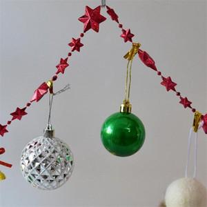 Acessórios de Natal Stage Arranjo Flores explosão modelos ouro Estrelas do Natal Sinos Cinco Pontas Star Line Bead Cadeia dkGE #