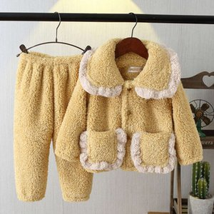 thickened 2020 new flannel product children's home wear in autumn and winter