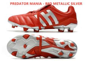 2020 الجديدة PREDATOR MANIA 19+ FG ADV لكرة القدم المرابط - حذاء أسود CORE PREDATOR RED / WHITE FOOTBALL
