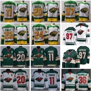 Invertir Retro Hockey Minnesota Wild 97 Kirill Kaprizov Jersey 11 Zach Parise Ryan Suter Kevin Fiala Mats Zuccarello Matt Dumba Verde Blanco