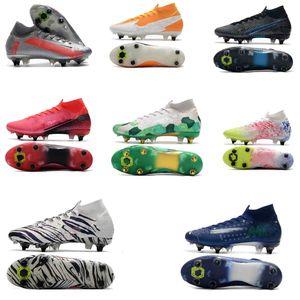 Mens FG Pro Fußballschuh Hallo Kinder Korea Mbappe Rosa Schuhe Damen Superfly 7 Elite SG-PRO AC CR7 Mercurial Fußballschuhe