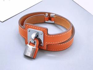 Mode Designer Schmuck Womens Armband H Leder Armband Männliche und weibliche Paar Sperre Armband Herren Armreifen Zubehör Großhandel