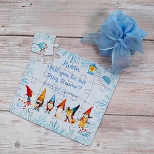 Персонализированные Дети поздравительную открытку Дети головоломка Приглашение бумаги DIY приветствие Подарочные карты Мальчик Девочка Customized Любой дизайн Печать EkD5 #