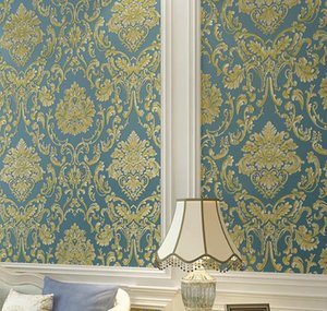 Modern Damask Wallpaper Wall Paper Embossed Textured 3d Wall Covering For Bedroom sqcCEl dh_seller2010