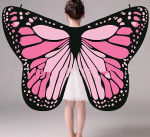 Carnevale Womens Monarch Butterfly Ali Animal Dress Up Butterfly Wings Costume Nymph Pixie Scialle Morbido Chiffon