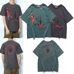 Fire Scott Short Top Men's Hip Sleeve Vintage Hop Dunk Loose Ts Travis T-Shirt Branded Summer Co X1214 Vfqgx