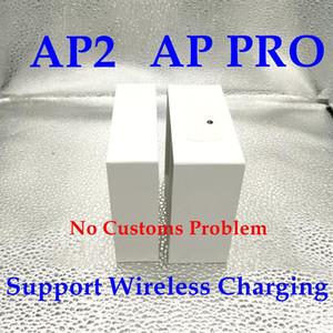 2020 para Airpods Pro Cases 2 H1 AP CHIP Transparencia AirPro Gen Metal Bisagra de plástico envoltura de plástico Auriculares de silicona Cajas para AirPods TWS