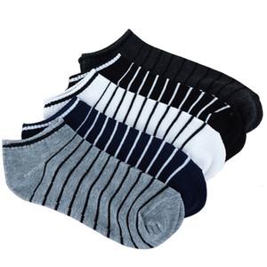 Colors Men 5 Pairs=10pcs lot Package Male Summer Light Stripe Cotton Short Sock Wholesale Couples Socks Sale