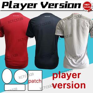 Версия игрока Munich Soccer Jersey Home Red # 9 Lewandowsi 20/21 Мужчины прочь Третья футболка Muller Gnabry Sane Футбольная форма