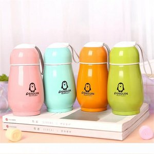 Stainless steel vacuum cup 300ml cartoon penguin shaped vacuum flasks customizable design double-deck insulated mug student water bottle