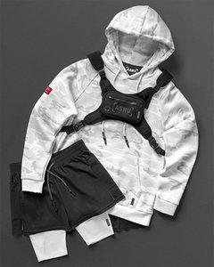 ASRV 20FW Jumpert Mens Roll Sweatshirt Coat Extended Line Sweater Fashion Hip Hop Street Jacket Rock Fashion Long Hooded Coat Topstoney Nrgm