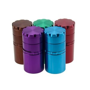 50 MM 5 Layer Metal Herb Grinder With 100mm Height Tobacco Miller Spice Crusher DHL FREE Shipping