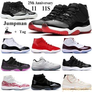 Jumpman 11 11s 25-я годовщина Баскетбол обувь Мужчины Женщина Спортивные кроссовки разводили 2019 Concord 45 23 гаммы-синюю победу как 96 тренеров