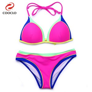ten 2021 womens Bikini split swimsuit fashion Swimming equipment Bikinis set bra green red bule black pink