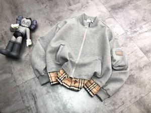 20fw neue Ankunft Mensentwerfer schwarz weiß grau Mode Plaidjacke burs Sweatshirt Baumwolle Pullover Pullover Streetwinterkleidung 1014