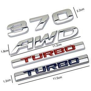 3D Metal 370 AWD TURBO Auto Car Sticker Emblem Badge Decal For Honda Avancier Crown Accord Civic CRV Fit HR-V Vezel Odyssey