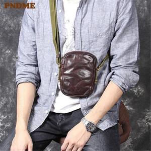 PNDME Fashion Vintage Genuine Pelle Pelle Piccola Sacchetto del torace Casual Casual Adolescenza di pelle bovina Adolescenza Mini Shoulder Crossbody Bag1