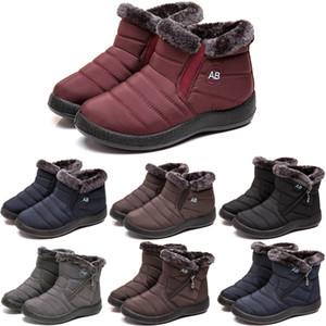 Kadın Çizmeler Sıcak Ayak Bileği Boot Ayakkabı Kadın Artı Boyutu Su Geçirmez Kış Çizmeler Kaymaz Düz Kar Erkek Botas Mujer Kış Ayakkabı