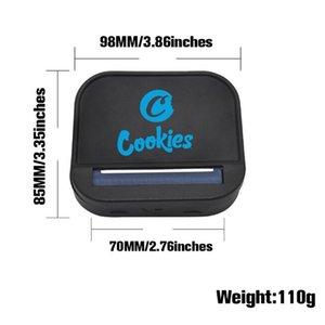 Cookies Cigarette Rouleau de cigarette 70mm 110mm Métal manuel motif manuel rouleau de poche automatique pure couleur pure couleur rol boîte de cigarette DHL