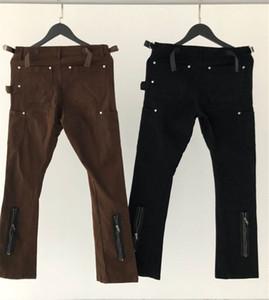 Fermuar Kargo PANTOLON Kadınlar Erkekler Jogger İnce tulumları Kahverengi Siyah Pantolon Parça Pantolon Koşucular