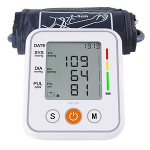 Electronic Monitor Tonometer Home Health Care Cuff Pulse Measurement Tool Portable LCD Digital Upper Arm Blood Pressure Monitor