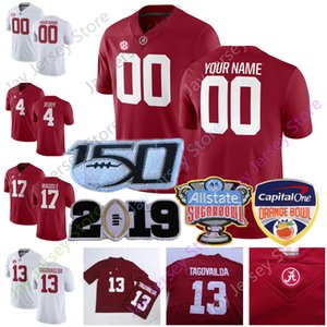 Alabama Crimson Tide Football Jersey NCAA College Tua Tagovailoa Jerry Jeudy Brian Robinson Jr. Alex Leatherwood Josh Jobe Christian Harris
