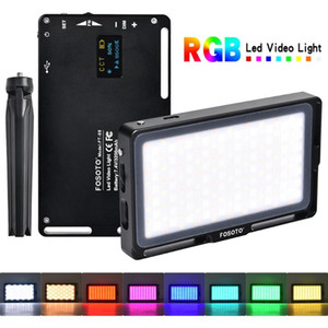 FOSOTO RGB Led Video Light Mini Photography Light 2500K-8500K Dimmable Full Color Studio Lighting Fill With OLED Screen