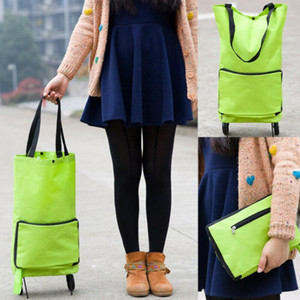 Fashion Folding Home Trolley Shopping Bag Reusable Shopping Cart Portable Eco-friendly Storage Totes Large Foldable Handle Bags1
